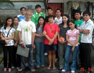 January 25: Jasmine Bundalian with Mother (in red shirt) and Grandfather (white shirt)