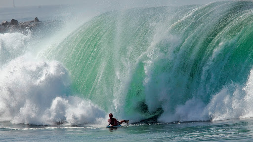 Huge Surf At The Wedge, Newport Beach, California.jpg