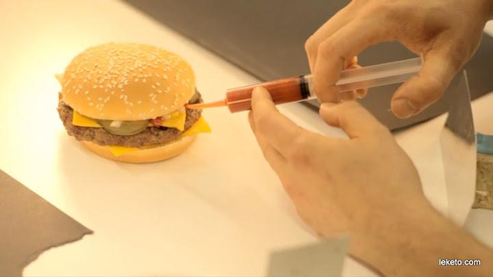 Макдоналдс - фото рекламата срещу истинският бургер