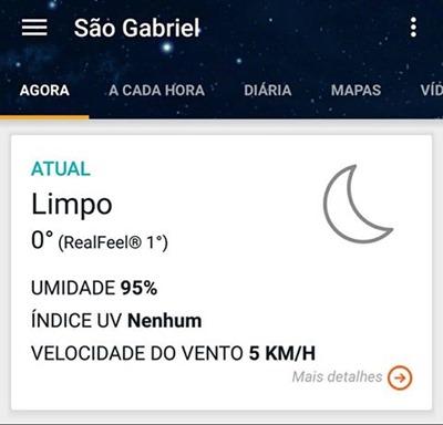 frio em São Gabriel 09-06-2016 07h00