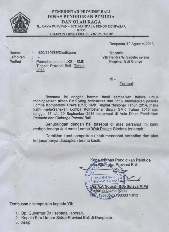 Contoh Surat Permohonan Amdal Lalin Surat F