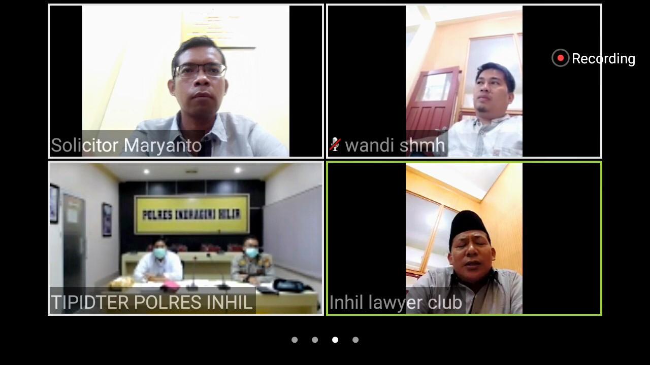 ILC Gelar Perkara Khusus Kasus Karhutla Via Video Teleconference