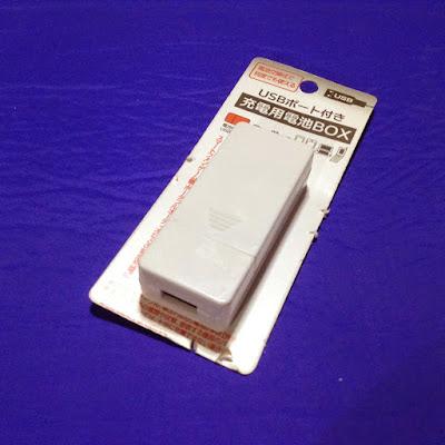 単三乾電池2本でUSB機器を充電するケース