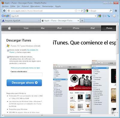 Descarga e instalación de iTunes