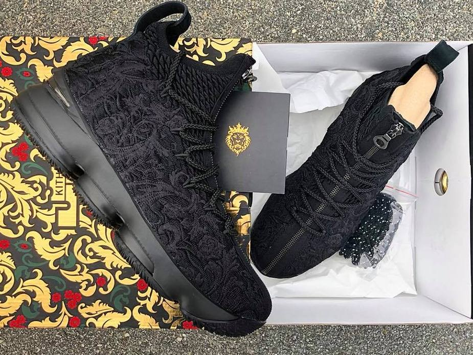 3d9ca06fb8115 Get Up Close and Personal with  Suit of Armour  KITH X LeBron 15 ...