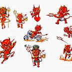 set - Devil Tattoos Designs