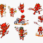 set - Devil Tattoos Designs