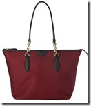 LK Bennet Deep Red Nylon Leather Tote