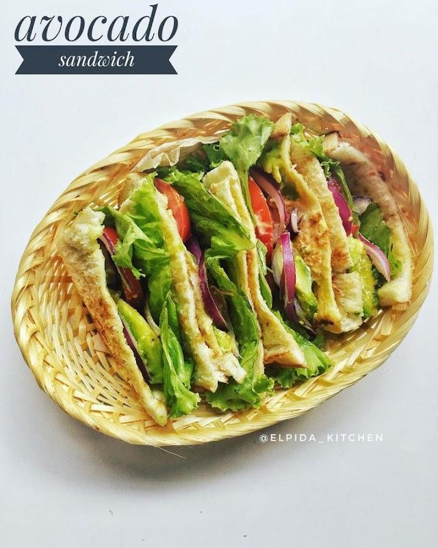 Begini Cara Membuat Avocado sandwich