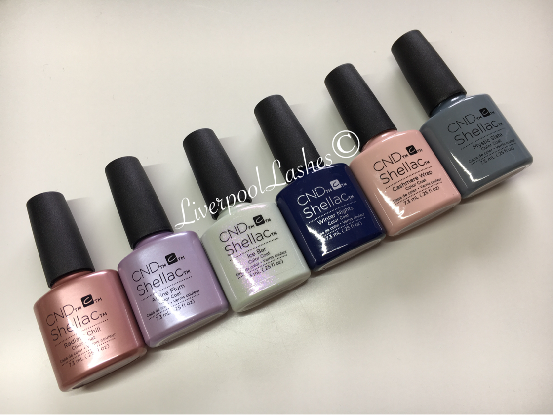 cnd glacial illusion shellac collection radiant chill alpine plum ice bar winter nights cashmere wrap mystic slate