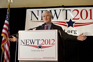 Republican presidential candidate and former House of Representatives Speaker Newt Gingrich