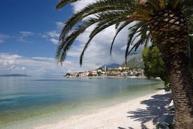 Palme am Strand von Gradac