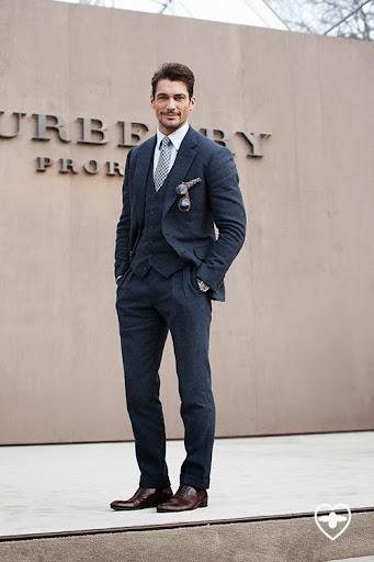 David Gandy; model; Tom Sweeney suit;