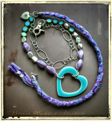 Open Heart Necklace by Brass Rabbit Studio