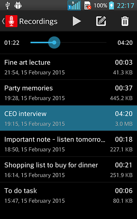 Voice Recorder: Easy Sound Recording+ Audio Player- screenshot