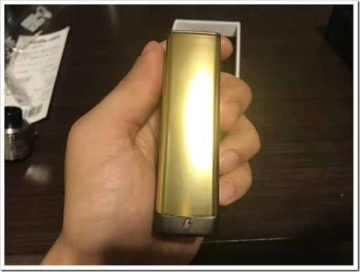 IMG 4442 thumb - 【金色の翼に魅せられて】CigGo Tattoo Plus MOD(シグゴータトゥープラス)レビュー!黄金に輝くボディ!まさに漢のBOX MOD……ところでこれ、VAPEレベルが上がるってやつじゃなかったっけ~?【心の小宇宙】