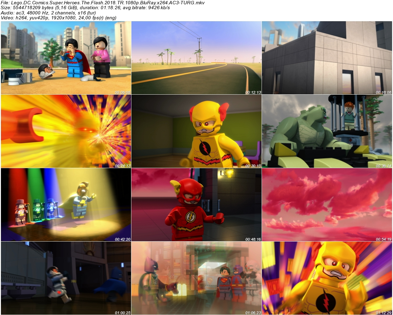 Lego DC Comics Super Heroes The Flash 2018 - 1080p 720p 480p - Türkçe Dublaj Tek Link indir