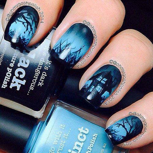 Spooky And Cute Halloween Nail Art Tutorials Fashionte