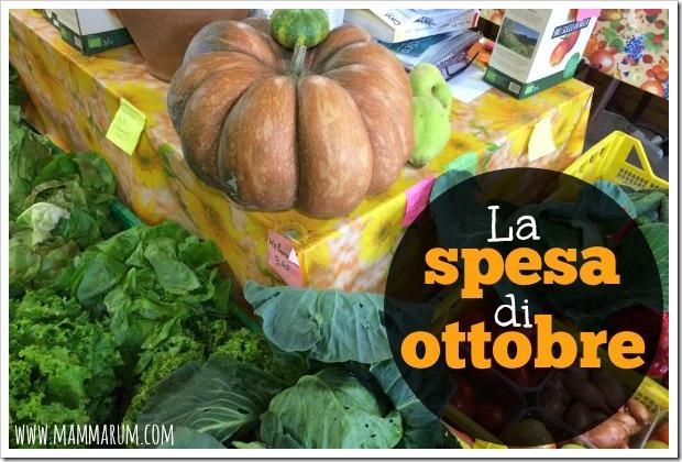 La spesa di stagione di ottobre