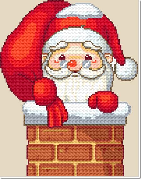 Santa Claus Punto de cruz