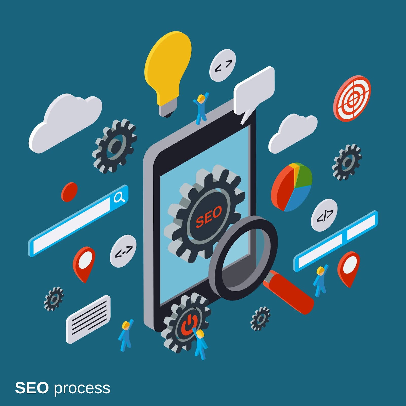 Mobile Seo Optimization Vector Concept Free Download Vector CDR, AI, EPS and PNG Formats