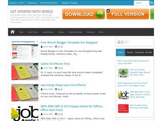 Wrock blogger template