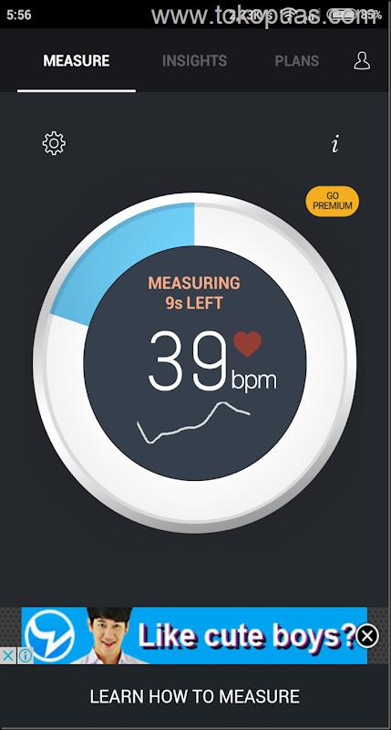 trik mengukur detak jantung dengan layar LED flash