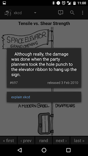 Browser for xkcd screenshot