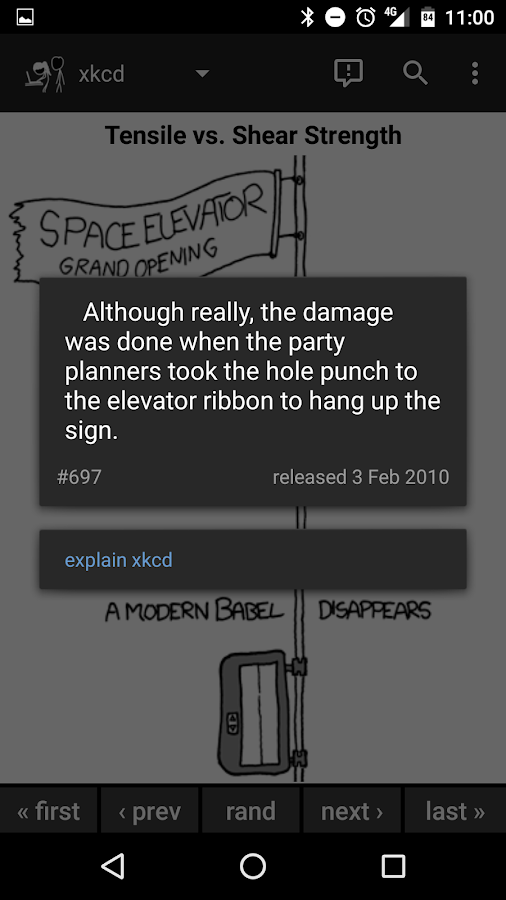 Browser for xkcd- screenshot