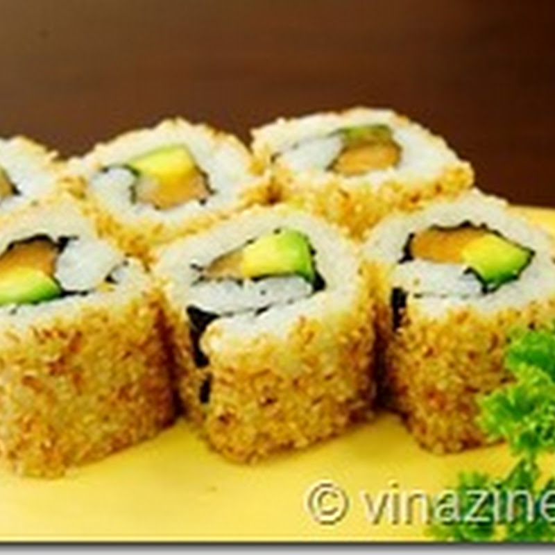 Món ngon từ quả bơ : Sushi ngày họp mặt