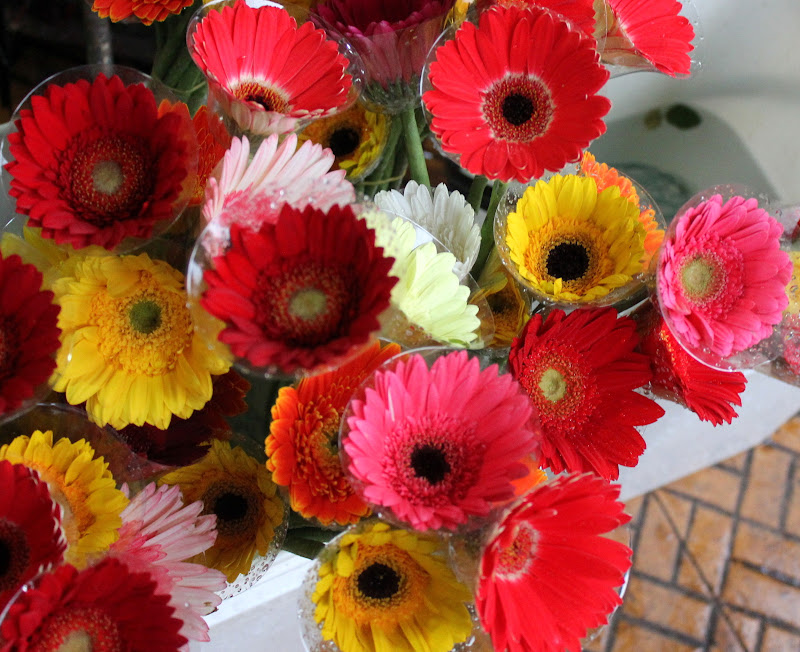 Flowers on sale at Da Lat market