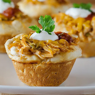 Cheesy Chicken Enchilada Cups.