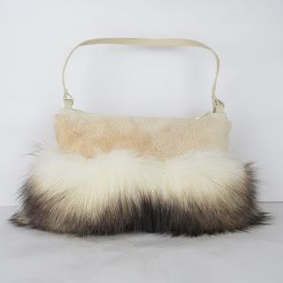 J. Mendel X LeSportsac Couture Fur Handbag