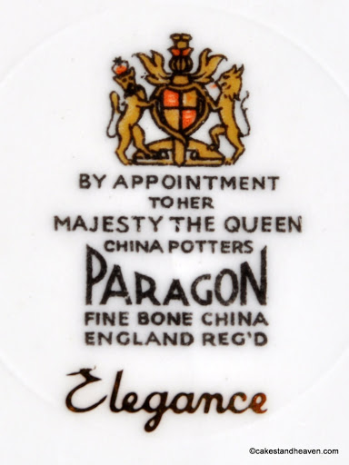 Paragon Elegance 1950s Backstamp