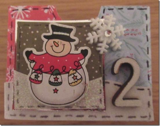 snowman advent drawer