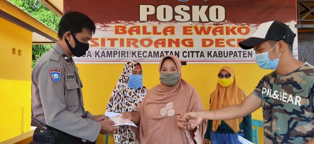 Personil Polres Soppeng Giat Tingkatkan Pemanfaatan Posko Balla Ewako