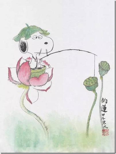 Peanuts X China Chic by froidrosarouge 花生漫畫 中國風 by寒花 Spike 03