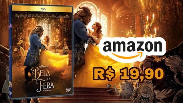 DVD A Bela e a Fera com Emma Watson em promoção por apenas R$ 19,90 na Amazon