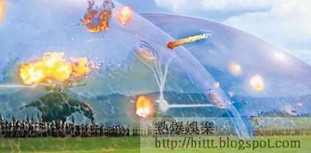 裝置形成的隱形防護罩,可把爆炸衝力轉向、反彈或吸收。圖為防護罩功能模擬效果。(互聯網圖片)