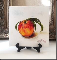 Peach easel
