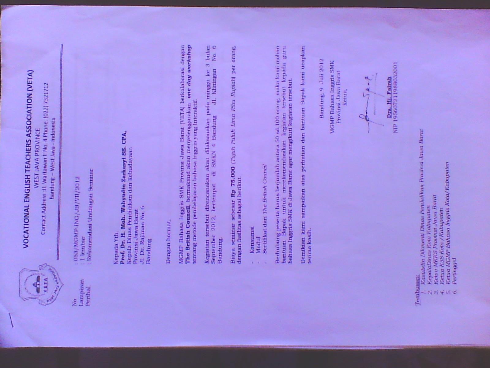 contoh laporan kegiatan mgmp bahasa inggris