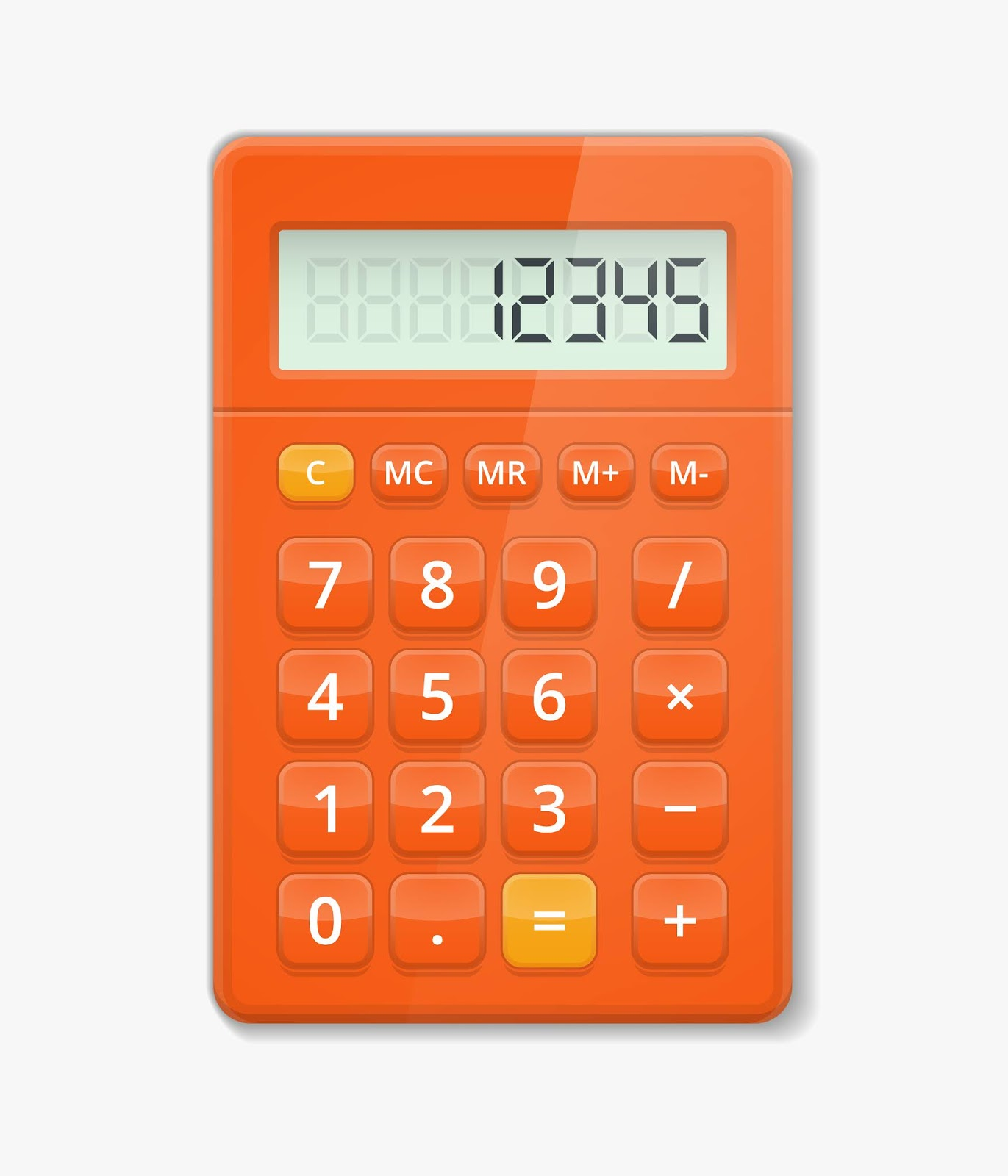 Vector Realistic Calculator Button Electronic Free Download Vector CDR, AI, EPS and PNG Formats