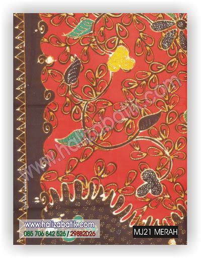 Desain Baju Batik Wanita, Model Baju Batik Modern, Contoh Batik, MJ21 MERAH