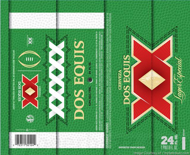 Dos Equis 24oz Football Cans