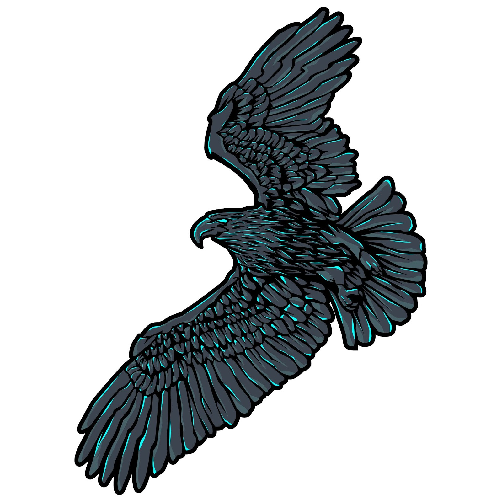 Flying Eagle Illustration Free Download Vector CDR, AI, EPS and PNG Formats
