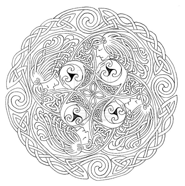 Celtic Mandala Coloring Pages Within Celtic Coloring Pages