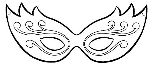 plantilla máscara veneciana