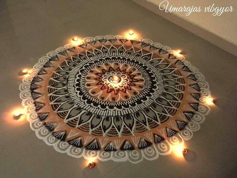 Rangoli Designs With Theme Go Green