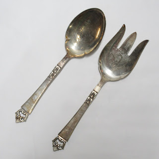 Danish Sterling Silver Serving Set