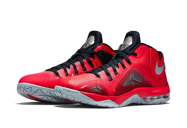 Nike Ambassador 7  Red and Metallic Silver  New Look
